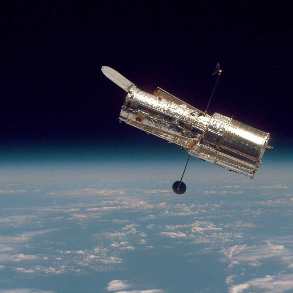 In 1990, the Hubble Space Telescope was launched.